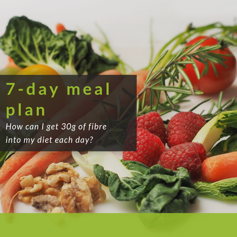 BNF's 7-day meal plan